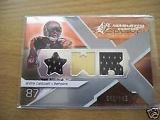 ANDRE CALDWELL DUAL ROOKIE MATERIALS #001/149 BENGALS 1
