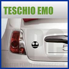 adesivo sticker emo teschio skull rock tuning allestimento auto vetri tablet