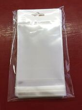 "100 Clear Hanging 3""x 4"" OPP Bags Jewelry Craft Merchandise Resealable Bottom"