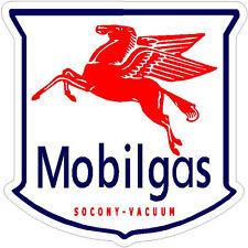 MOBIL GASOLINE VINYL STICKER (A873) 6 INCH