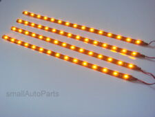 "4x 12"" Super Yellow Amber 1210 SMD Flexible LED 12V Light Strips for car/truck"