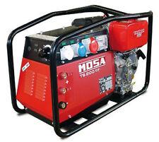 Mosa TS 200 des/cf Yanmar Diesel Motor 110V/240V 4KVA generador de soldadura MMA