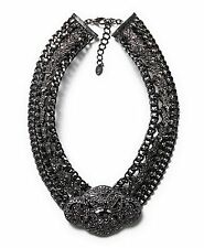 ZARA  BEAUTIFUL STUDDED SPARKLY DIAMANTE COLLAR BIB DRESS NECKLACE NEW