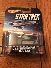 2014 Hot Wheels Retro Entertainment Star Trek U.S.S. ENTERPRISE NCC-1701