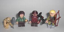 LEGO Herr der Ringe - 4 Figuren Legolas Frodo Gimli Gollum - Minifig LotR Hobbit