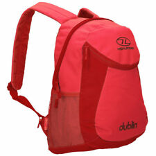 HIGHLANDER BACKPACK DUBLIN Hiking Bag Camping School Bicycle Red