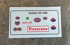 1/18 Custom Driver Figure Race-Suit Decals Graham Hill 1968 STP Lotus Indy 500