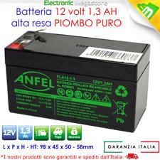 Batteria al piombo 12V 1,2Ah ricaricabile ermetica lampade di emergenza 1,3Ah