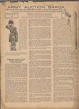 1931 FRANCIS BANNERMAN SONS MILITARY GOODS CATALOGUE No.21 - 501 BROADWAY NYC