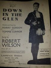Down in the Glen sheet music words and music by Harold Gordon Tommie Connor 1947