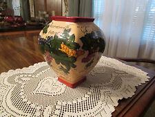 """vase - colorful base for flower arrangement  7.25"""" tall"""