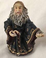 "Multicolor 3.25"" Gnome Mystical Man w Jewel in Hand"