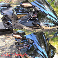 Black LED Turn Signals Rearview Mirrors For Yamaha YZF R1 2009 2010 2011 2012