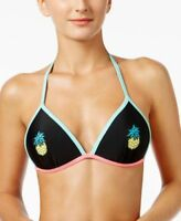 California Waves Juniors Large Push Up Pineapple Triangle Tie Back Bikini Top