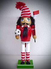 25 cm Casse-Noisette CASSE-NOISETTES FOOTBALL Kicker rouge blanc 30143
