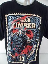 Black Timber Jason Voorhees Friday The 13th XXL T Shirt Machete Horror Halloween