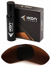 Polarized IKON Replacement Lenses For Oakley Straight Jacket 2007 Bronze/Brown