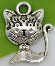 20/50/300pcs Tibetan Silver two-sided Cats Jewelry Charms Pendant DIY 16x12mm
