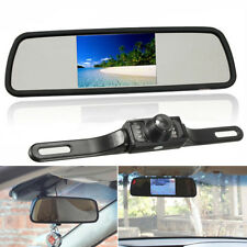 4.3'' Car TFT LCD Mirror Monitor & Wireless Reverse Rear View Backup Camera Kit