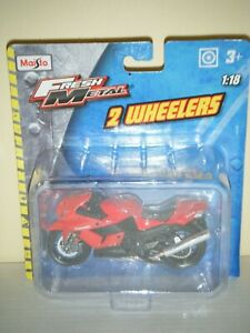Maisto 1:18 Fresh Metal 2 Wheelers KAWASAKI NINJA ZX-14 Motorcycle (Red)