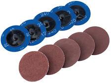 Genuine DRAPER Ten 50mm Assorted Aluminium Oxide Sanding Discs | 75615