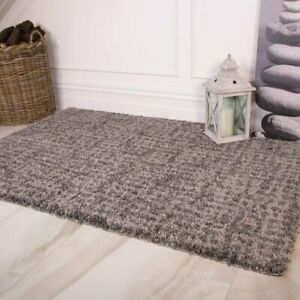 Dark Gray Deep Luxurious Shaggy Rugs Modern Non Shed Thick Shag Area Rug