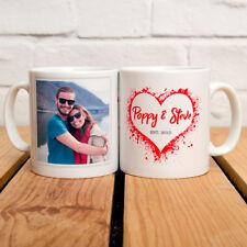 PERSONALISED LOVE HEART PHOTO MUG - YOUR PHOTO, NAMES & YEAR ADDED TO THE MUG