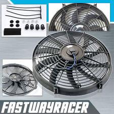 Universal 16'' Electric Reversable Radiator Fan 2500CFM 7AMP 12V 120W S Blade