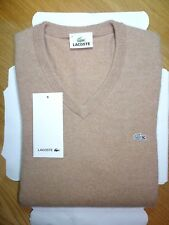 LACOSTE MEN'S V-NECK NECK 100% CASHMERE SWEATSHIRT/JUMPER SIZE 2 X-SMALL