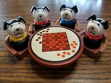 Vintage Fisher Price Little People checkers game table chairs Lucky dog lot