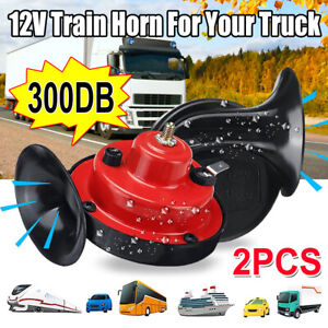 2PCS 300DB Air Snail Car Horn 12V Truck Lorry SUV Train Truck Boat Loud Camper