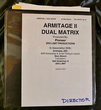 ARMITAGE 2 II Dual Matrix Anime 2001 DIRECTOR'S SCRIPT Juliet Lewis