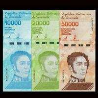 Venezuela Set 3 PCS,10000 20000 50000 Bolivares, 2019,  P-109 110 111, UNC