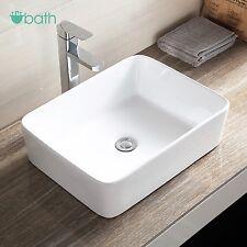 Ceramic Bathroom Vessel Sink Porcelain Basin Bowl Countertop Pop Up Drain