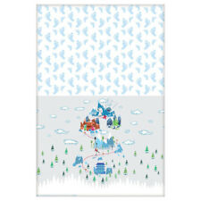 SMALLFOOT PAPER TABLE COVER ~ Birthday Party Supplies Decoration Cloth Blue