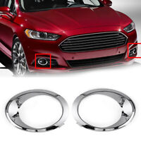 2x Chrome Car Fog Light Cover Bezel Trim Ring For Ford Fusion Mondeo 2013-2016