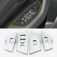ABS Matt Interior Door Window Lift Cover Trim 4pcs For Peugeot 508 2019 2020