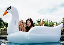 Mimosa Inc White Swan Inflatable Premium Quality Giant Size Pool Toy Float Raft