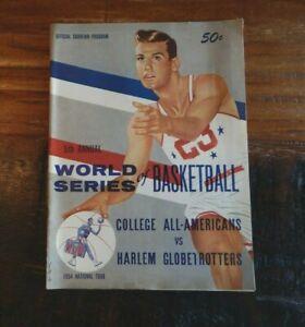 1954 COLLEGE ALL-STARS V HARLEM GLOBETROTTERS WORLD SERIES OF BASKETBALL PROGRAM