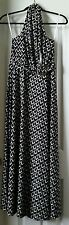 Women's White house| Black market halter Geometric knit Maxi Dress size: XS