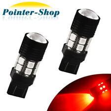 2x Red 7443/7440 High Power 7W Chips Brake/Stop/Tail/Parking LED Light Bulbs 12V
