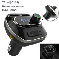 Wireless In-Car Bluetooth FM Transmitter AUX Radio Adapter Car USB Port US Fast