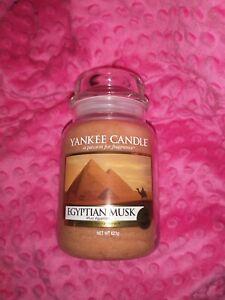 Yankee Candle EGYPTIAN MUSK - Fresh - European  Large 22 oz. Jar NEW