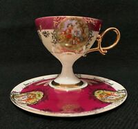 Vintage  Shafford Japan Tea Cup and Saucer hand decorated