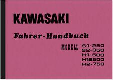 Kawasaki s1-250 s2-350 h1-500 h1b 500 h2-750 Manuel d'utilisation manuel manual