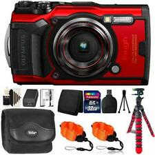 Olympus Tough Tg-6 Digital Camera Red + 32Gb Memory Card & Accessory Kit