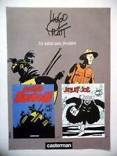 PUBLICITE-ADVERTISING :  HUGO PRATT  1990 pour Cato Zoulou & Jesuit Joe
