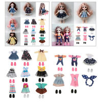 14x Fashion Girls Dolls Dress Clothings Outfits for 6inch BJD Doll Dress