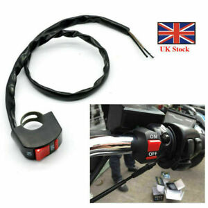 Universal On Off Motorcycle Scooter Kill Switch Motorbike Handlebar  Stop Button