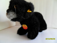 Steiff  panther  puma cat with all IDs stuffed animal Germany 2722